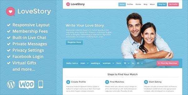 beste dating website template
