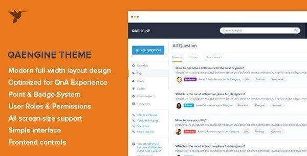 question-answer-website-template