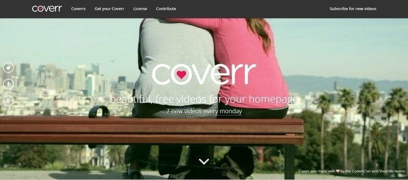 coverr video achtergrond website