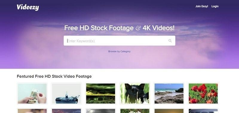 videezy video achtergrond website