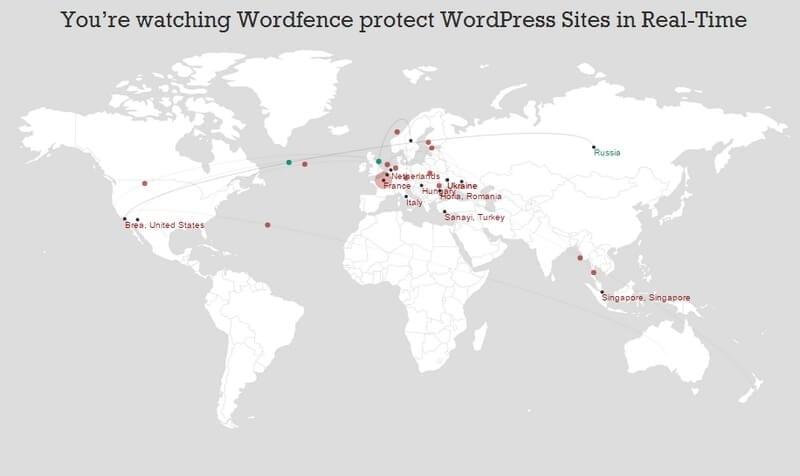 kaart met attacks website