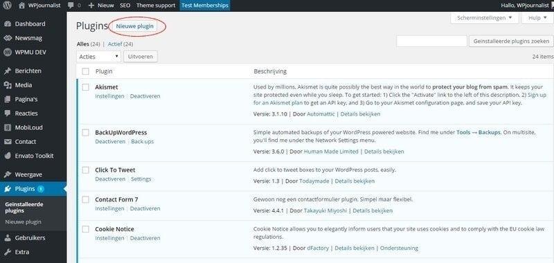 wordpress-plugin-installeren