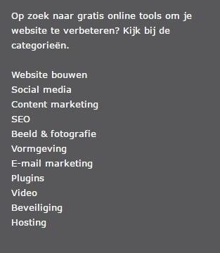 kennisbank-categorieën