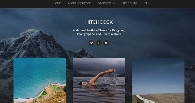 hitchkock free wordpress theme