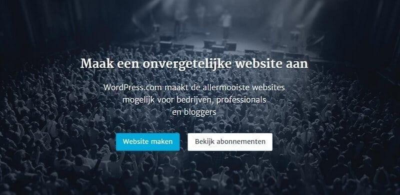 wordpress-com-account-aanmaken