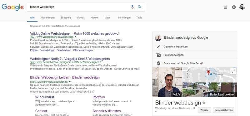blinder-webdesign-google-visitekaartje