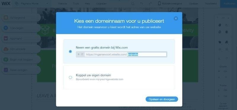 publiceren-van-wix