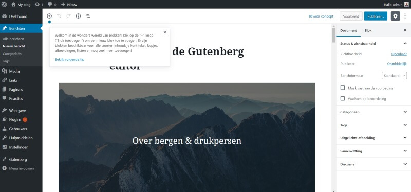 gutenberg-editor-wordpress-5.0