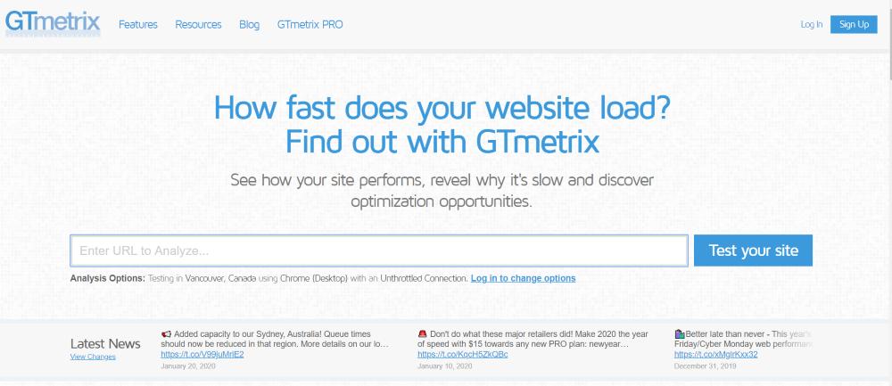 gtmetrix website snelheid meten