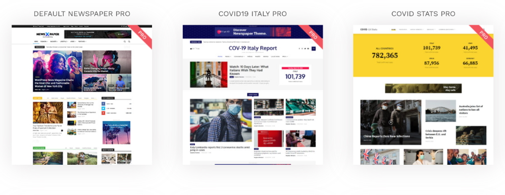 covid website themes